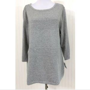 Karen Scott NWT Pointelle Ribbed Sweater Cotton